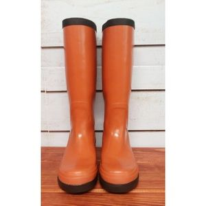 Cole Haan Nike Air Orange Rain Boots 6